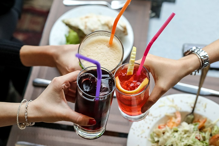 Drinks With A Straw
